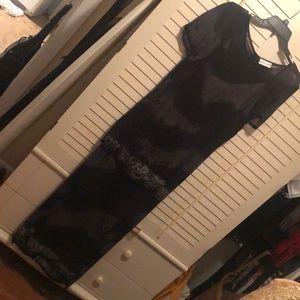 Blacky  fashion full length dress